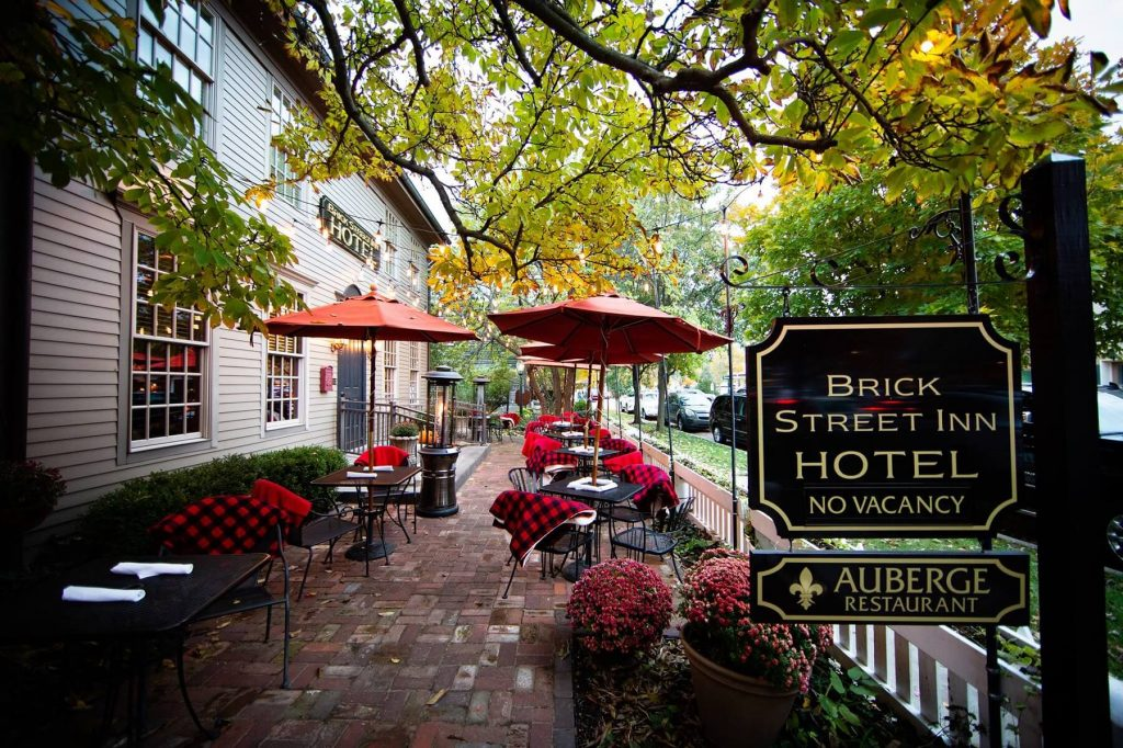 Auberge Fall Patio