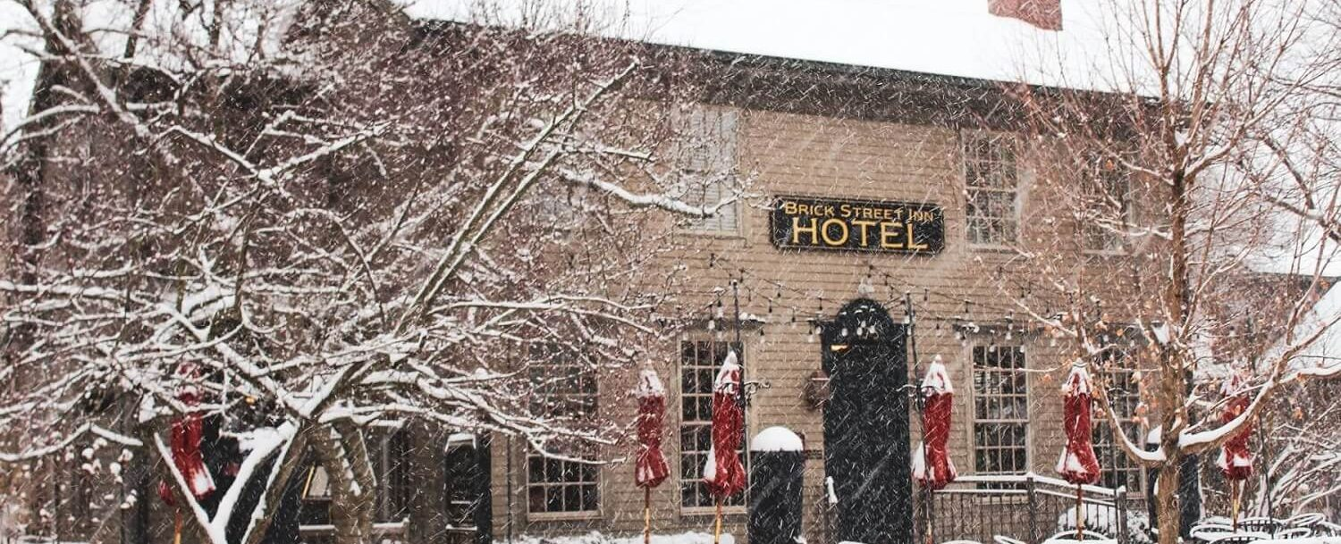 Snow During the Holidays at Brick Street Inn