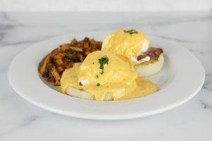 eggs benedict from Auberge